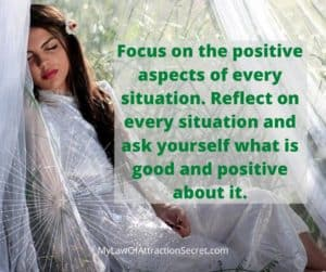 keep focused on positive thoughts not negative thoughts