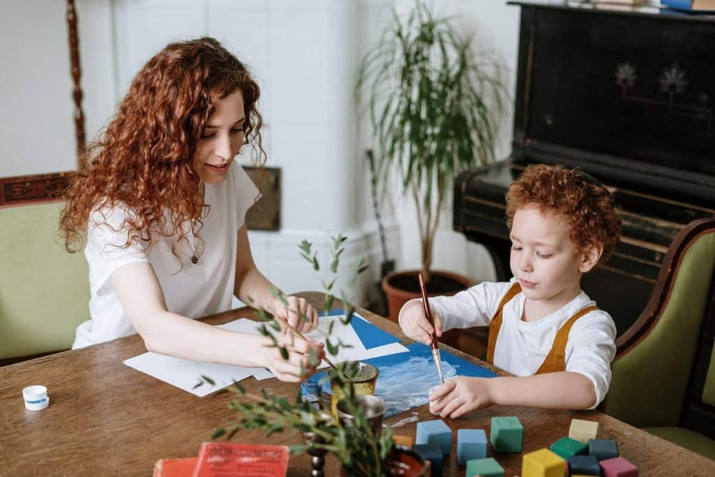 Kids can create a vision board and learn about the law of attraction