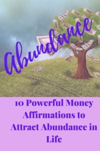 Money affirmation Pinterest