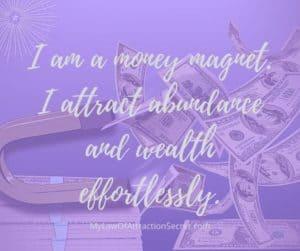 money affirmation magnet