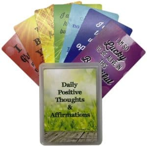 Positive Affirmation Cards - Unique 54 Card Deck with Storage Case toTrain Your Mind