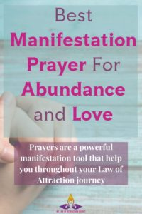 Prayer manifestation now